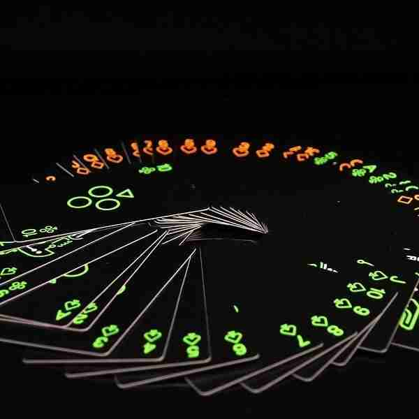 Paper glow in the dark playing cards
